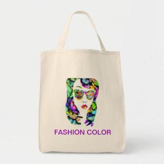 Fashion color tote bags