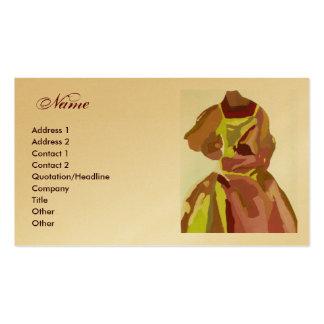 """Fashion Designer"" Golden Brown Dress Business Card Template"