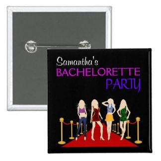 Fashion Divas Bachelorette Party Square Buttons