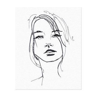 Fashion Face Illustration Canvas Print
