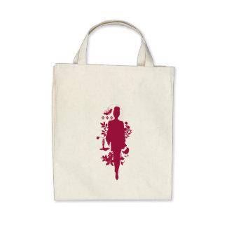 FASHION FLORA Ruby Organic Tote Canvas Bags
