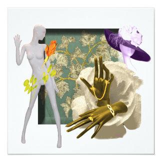 Fashion Forward 13 Cm X 13 Cm Square Invitation Card