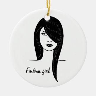 Fashion girl christmas ornament
