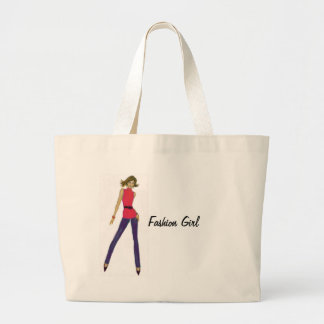 Fashion Girl Large Tote Bag
