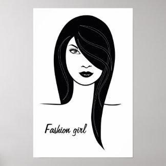 'Fashion girl' poster