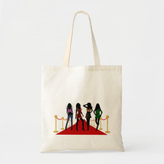 Fashion Girls on the Red Carpet Jumbo Tote Bags