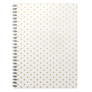 Fashion gold polka dots notebook