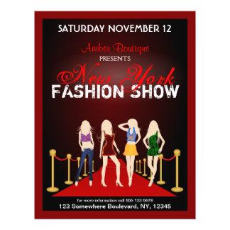 Fashion House Show Fashion Designer Red Flyers Custom Flyer