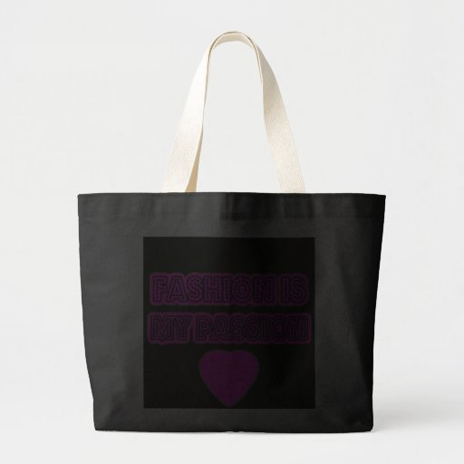 Fashion is my passion tote purse bag