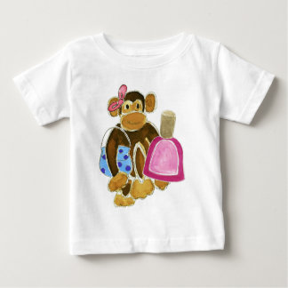 Fashion Monkey Nail Polish Baby T-Shirt