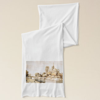 Fashion scarf with Dotre Dame image