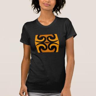 Fashion Shirt - Women- Gold/Caramel/Black