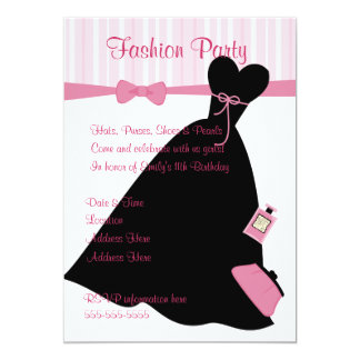 Fashion Show 13 Cm X 18 Cm Invitation Card