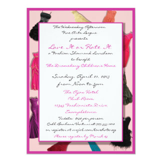 "Fashion Show and Luncheon Custom Invitations 6.5"" X 8.75"" Invitation Card"