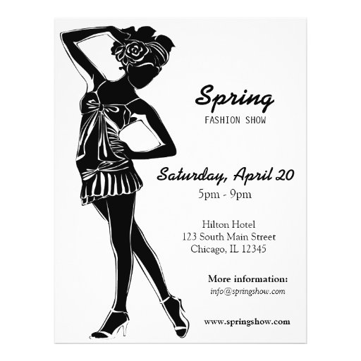 Fashion Show (Black) Full Color Flyer