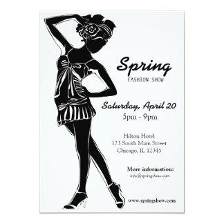 Fashion Show (Black) 5x7 Paper Invitation Card
