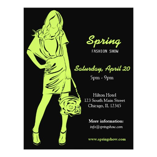Fashion Show (Dark Olive Green) Flyer