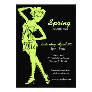 Fashion Show Dark Olive Green Invitation