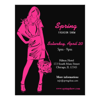 Fashion Show (Deep Pink) Flyer