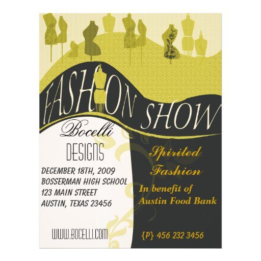 Fashion Show & Designer Invitation Full Color Flyer