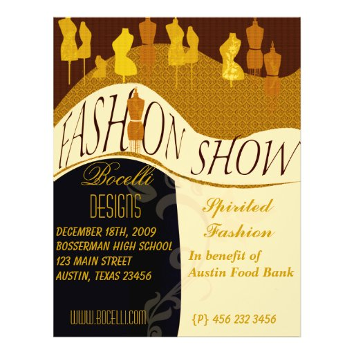 Fashion Show & Designer Invitation Flyer