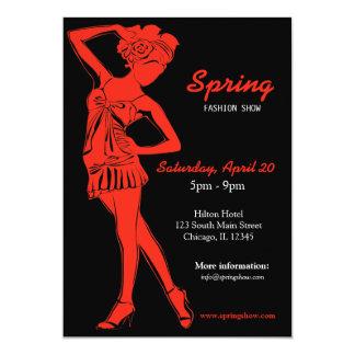 Fashion Show (Firebrick) 13 Cm X 18 Cm Invitation Card