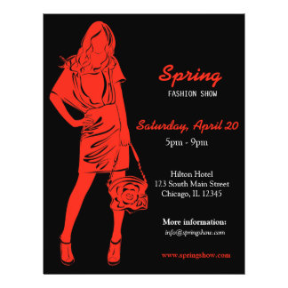 Fashion Show (Firebrick) 21.5 Cm X 28 Cm Flyer