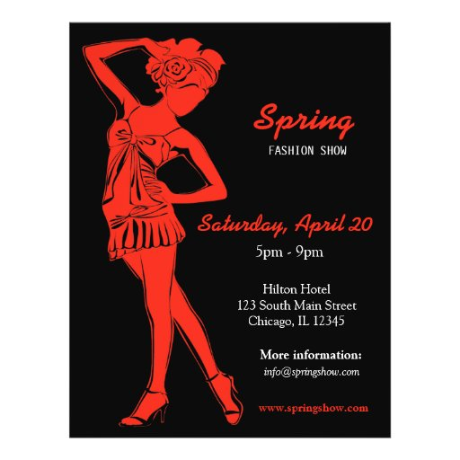 Fashion Show (Firebrick) Flyer Design