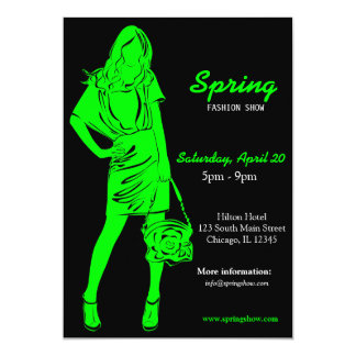 Fashion Show (Firebrick) 5x7 Paper Invitation Card