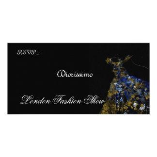 Fashion Show invitation Photo Card Template