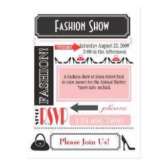 Fashion Show Invite Postcard