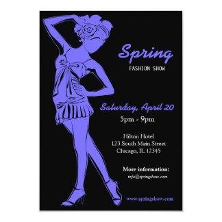 Fashion Show (Light Slate Blue) 13 Cm X 18 Cm Invitation Card