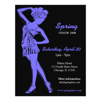 Fashion Show (Light Slate Blue) 21.5 Cm X 28 Cm Flyer