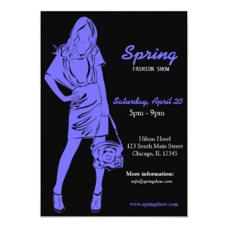 Fashion Show (Light Slate Blue) Card
