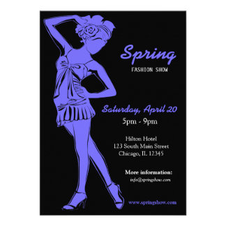 Fashion Show Light Slate Blue Invitations
