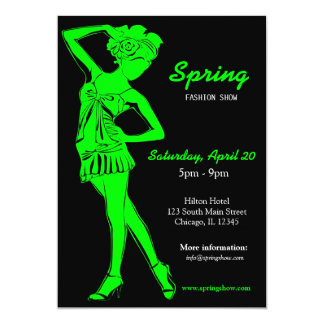 Fashion Show (Lime) 5x7 Paper Invitation Card