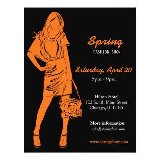 Fashion Show (Orange) 21.5 Cm X 28 Cm Flyer