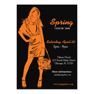 Fashion Show (Orange) Card