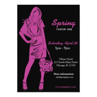 Fashion Show (Plum) 5x7 Paper Invitation Card