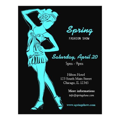 Fashion Show (Turquiose) Flyer