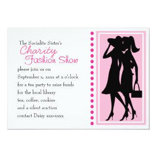 Fashion Silhouettes 13 Cm X 18 Cm Invitation Card