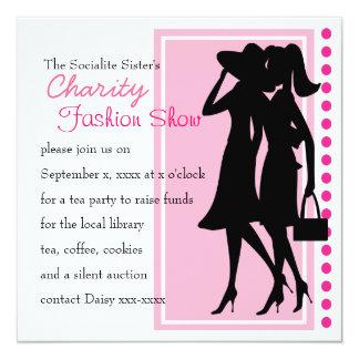 """Fashion Silhouettes 5.25"""" Square Invitation Card"""