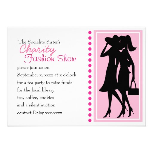 Fashion Silhouettes Personalized Invitations