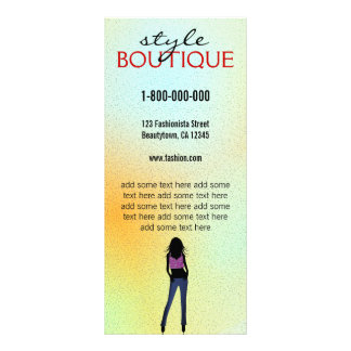 Fashion Stylist Boutique Retail Rack Card Template