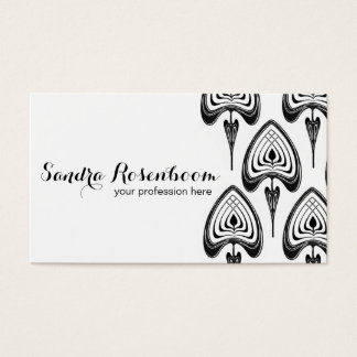 Fashion Stylist Designer art nouveau pattern Business Card