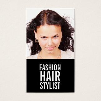 Fashion Stylist Hair Stylist Business Cards Black