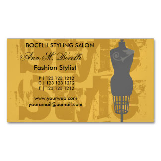 Fashion Stylist Style Fashion Artist Mannequin Magnetic Business Card