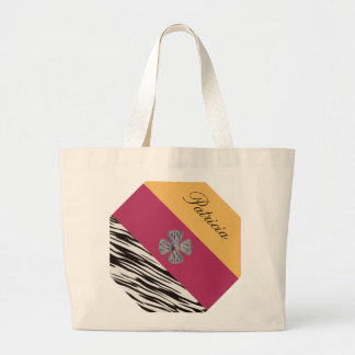 Fashionable Personalized Monogram. Your Text /Name Canvas Bag