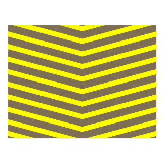 Fashionable Trendy Long Zig Zag Yellow Stripes Postcard