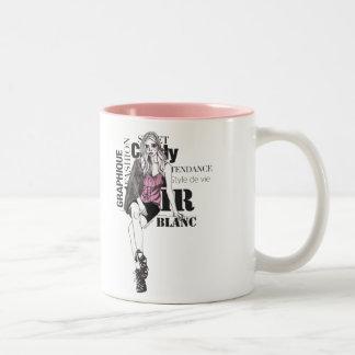 Fashionista #1 Two-Tone mug